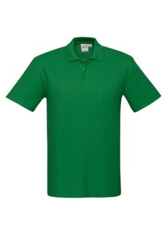 Mens Crew Polo Kelly Green